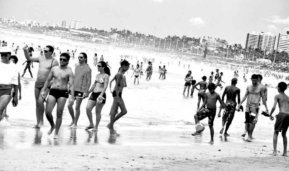 Dia de praia lotada